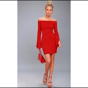 Dresses & Skirts - Red Bell Sleeve Dress New